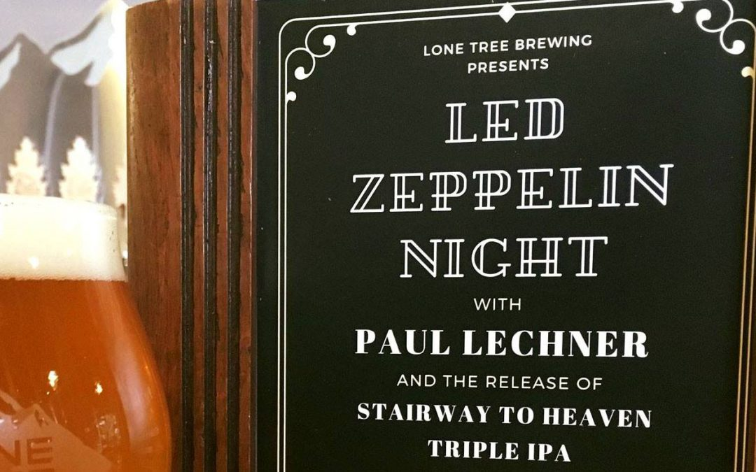 *NEW TIME* 2:00 – 5:00 p.m. Live ALL LED ZEPPELIN Solo Acoustic Tribute Show at Lone Tree Brewing in Lone Tree, Colorado